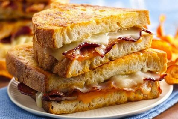 Sándwich de tocineta